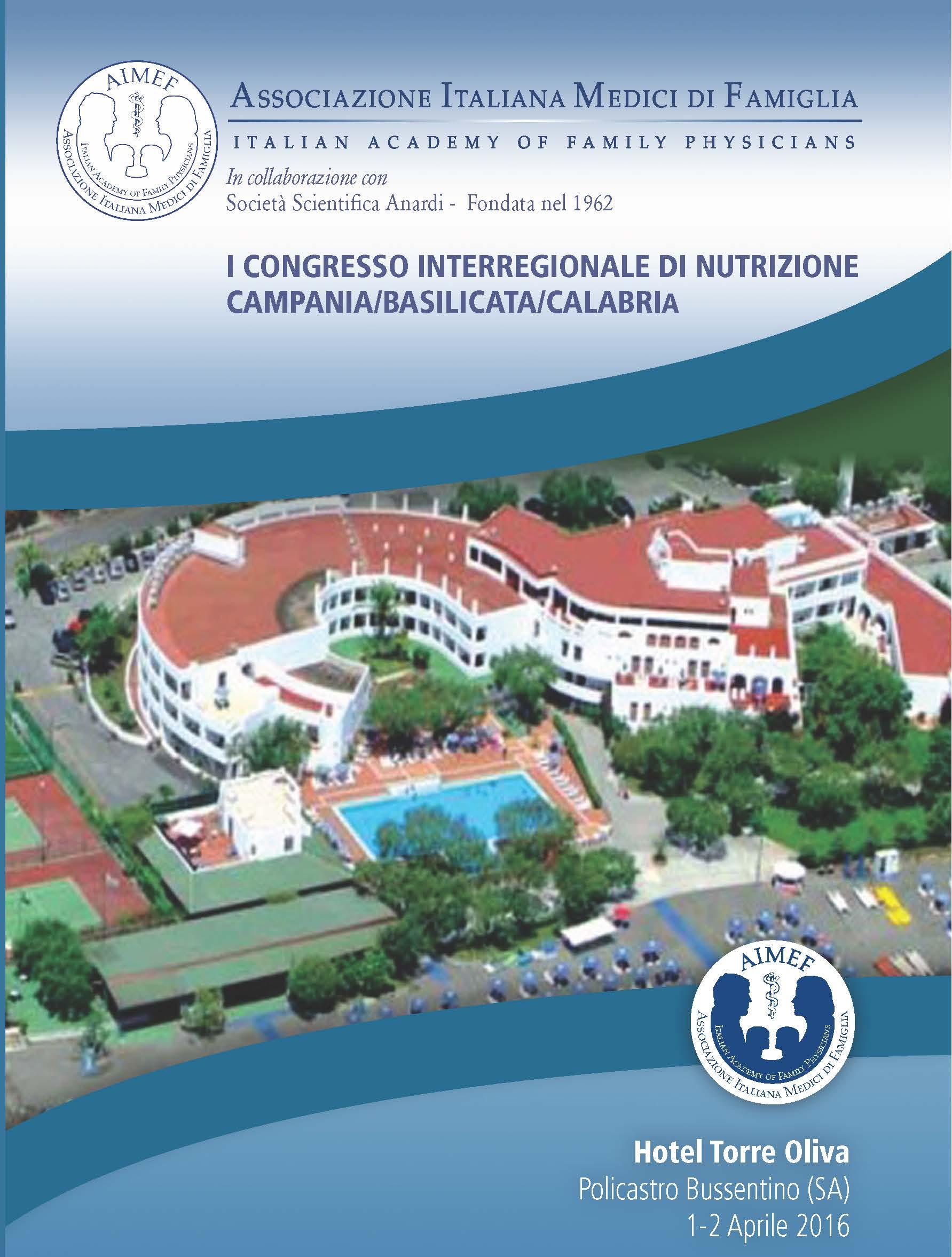 I CONGRESSO INTERREGIONALE DI NUTRIZIONE CAMPANIA/BASILICATA/CALABRIA