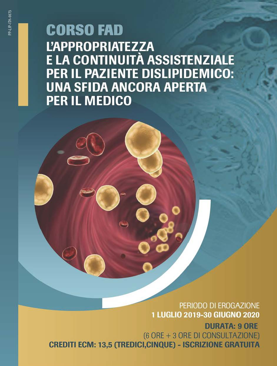 Corso FAD: L'Appropriatezza E La Continuità Assistenziale Per Il Paziente Dislipidemico