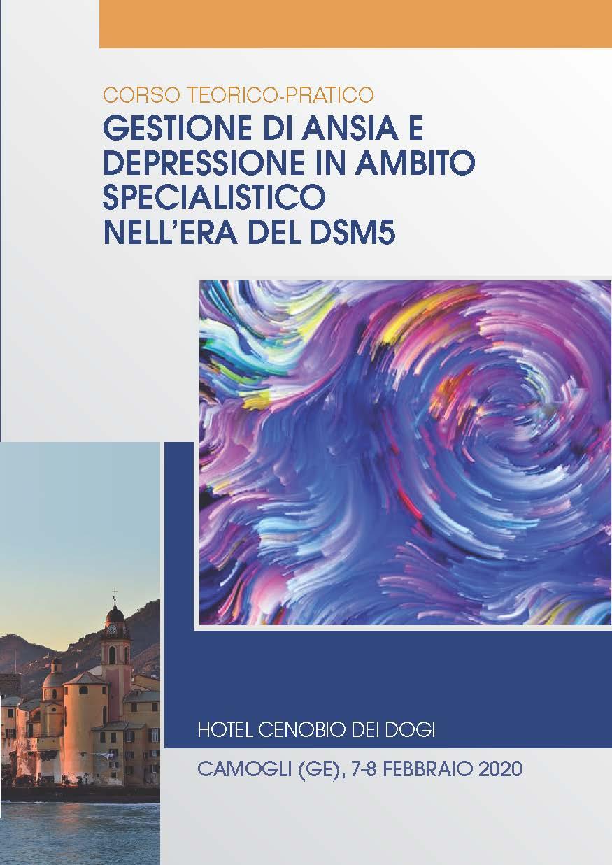 GESTIONE DI ANSIA E DEPRESSIONE IN AMBITO SPECIALISTICO NELL'ERA DEL DSM5