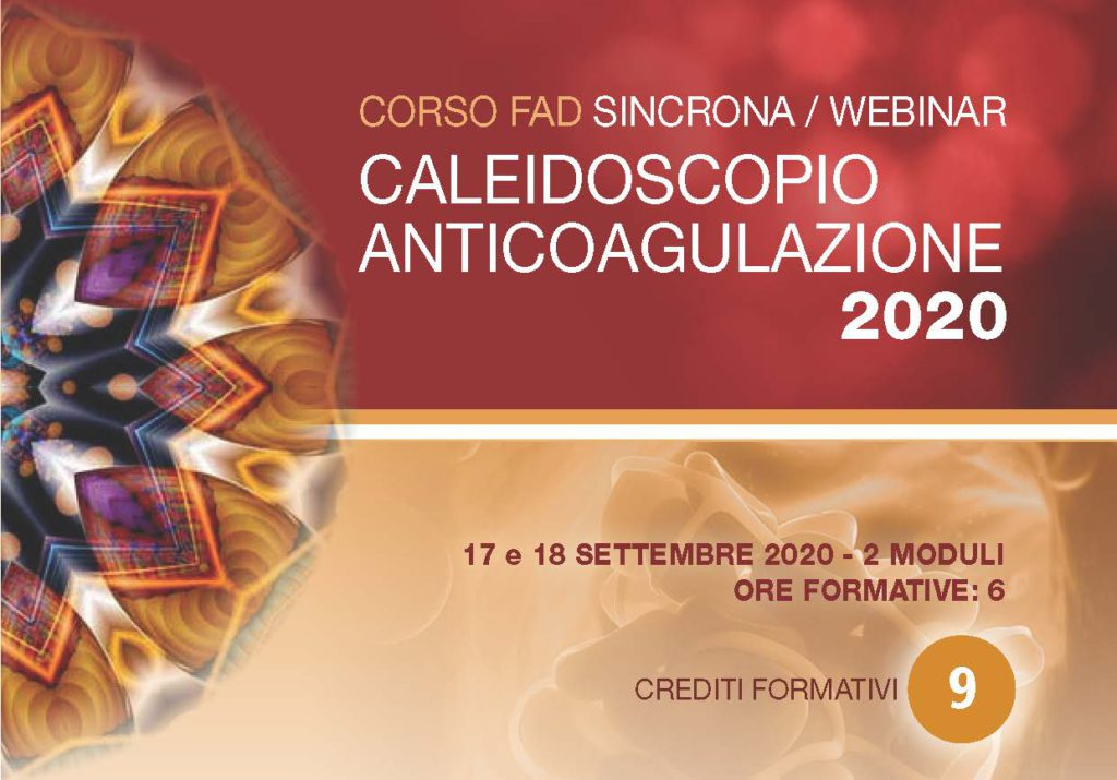 Caleidoscopio anticoagulazione 2020