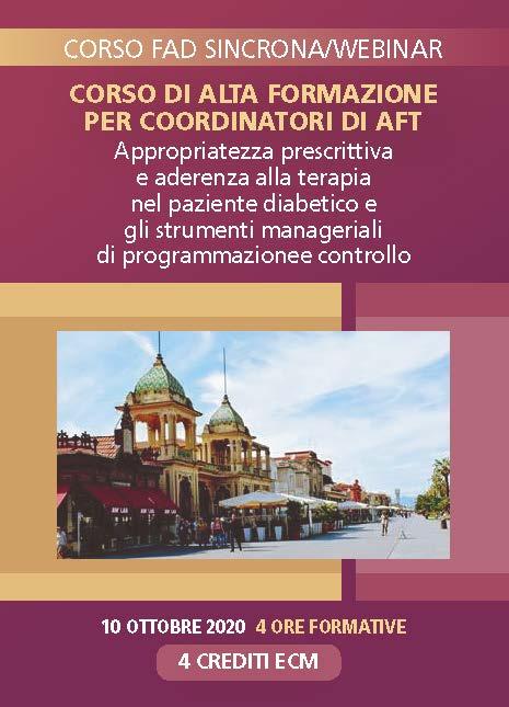 CORSO DI ALTA FORMAZIONE PER COORDINATORI DI AFT