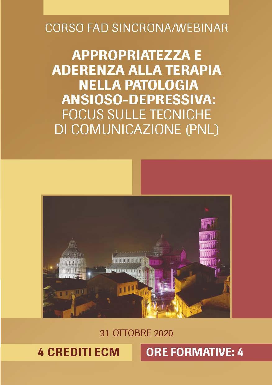 Appropriatezza e aderenza alla terapia nella patologia ansioso-depressiva: Focus sulle tecniche di comunicazione (PNL)